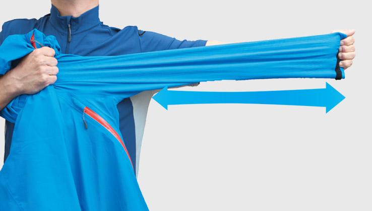 袖のストレッチイメージ
